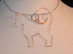 Wire Wrapped Akita or Other Big Dog Pendant MADE to ORDER