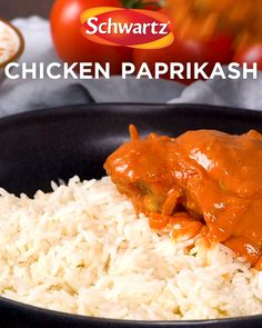 The chicken paprikash recipe is the perfect post-exercise meal. It& made with juicy chicken thighs and seasoned with Schwartz Paprika for extra flavour! Gf Recipes, World Recipes, Slow Cooker Recipes, Cooking Recipes, Healthy Recipes, Recipies, Chicken Paprikash, Midweek Meals, Chicken Thigh Recipes