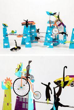 City of Dreams / cardboard construction kit