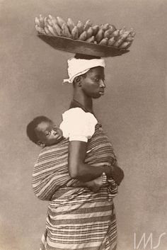 Marc Ferrez. Negra com seu filho, c. 1884. Salvador | Brasiliana Fotográfica