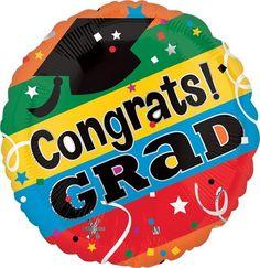 """Congrats Grad Letters 9"""" Globo Met Graduacion, COD: 2819909, UPC Code: 2819909, Venta En Linea, Mayoreo Globos, Metálicos/Mylar/Metalizados, Graduacion, México. Teleglobos.com"""