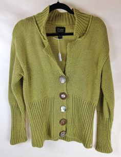 2fce5455ff Pure Handknit Light Green Knitted Button Cardigan Sweater Size M L  fashion   clothing