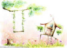 детские, фэнтези, пейзаж, цветы, детские для девочек, сказка, фотообои для детской