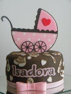 Bolo Chá de Bebê da Isadora by A de Açúcar Bolos Artísticos, via Flickr