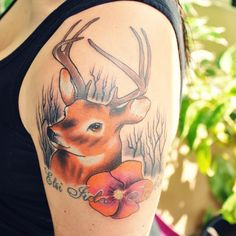 140 Most Attractive Deer Tattoo Designs And Meanings nice  Check more at http://fabulousdesign.net/deer-tattoos-meanings/