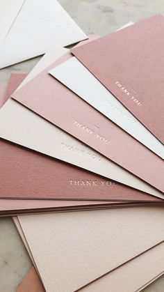 business thank you cards Ombre dusty pink thank you cards p a p e l & co Business Branding, Corporate Branding, Logo Branding, Brand Identity, Gift Girlfriend, Thank You Card Design, Custom Thank You Cards, Business Thank You Cards, Jewelry Packaging