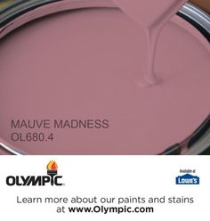 MAUVE MADNESS OL680.4 is a part of the reds collection by Olympic® Paint.