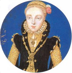 A miniature of a young Queen Elizabeth I, attributed to Levina Teerlinc, 1565. More about Teerlinc: http://www.beingbess.blogspot.com/2012/11/levina-teerlinc-female-miniature.html