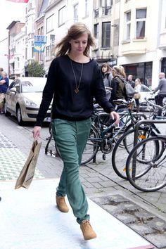 Top Wunderwerk, pants ArmedAngels, shoes TOMS. www.supergoods.be
