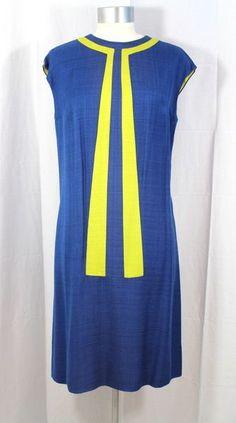 Vintage 1960s Razooks Colorblock Dress & Coat Ensemble M