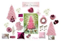 """Pink Christmas"" by keepsakedesignbycmm ❤ liked on Polyvore featuring Cadeau, Wallace and vintage"