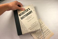 Kay's Keepsakes: Old dictionary pages used to wrap and create Keepsake Book