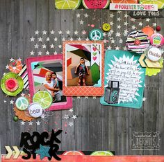 Rock Star layout by Bernii Miller for BoBunny using the Forever Young collection.