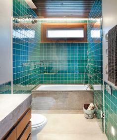 Banheiro verde