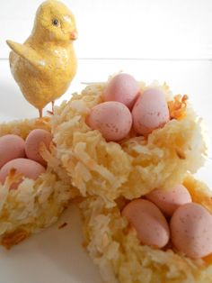 *Rook No. 17: recipes, crafts & whimsies for spreading joy*: Springtime Sweets ~ Macaroon Cookie Bird Nests