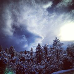 Snow storms a brewing