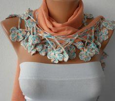 Women Pashmina  Scarf   Cotton Scarf  Headband  Cowl by fatwoman, $22.50
