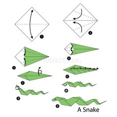 Step By Step Instructions How To Make Origami A Carrot. Stock Vector - Illustration of head, pretty: 73160224 - 摺紙 - Step by step instructions how to make origami snake. Origami Ball, Diy Origami, Kimono Origami, Origami Snake, How To Do Origami, Basic Origami, Origami Butterfly, Origami Flowers, Origami Tutorial