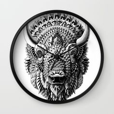 Buy Bison Wall Clock by BIOWORKZ. Worldwide shipping available at Society6.com. Just one of millions of high quality products available.