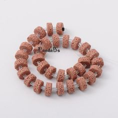 """Flat Round Synthetic Lava Beads Strands, Dyed, Pink, 15x8mm, Hole: 2mm; about 30pcs/strand, 15.5""""-in Beads from Jewelry on Aliexpress.com 