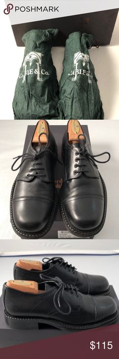Cable & Co black leather dress shoes Cable & Co black leather dress shoes. Worn once- excellent condition. Stored in & comes in original box and individual dust bags. Bought in Nordstrom- Gorgeous shoes for work or formal events. *shoe trees not included Cable & Co. Shoes