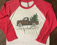 Love Christmas tree vinatge sweatshirt/ Buffalo plaid christmas shirt/ Applique christmas sweatshirt OaDcZ1