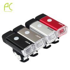 PCycling USB Recargable de Aluminio de la Bicicleta Llevó la Luz 5 W 4 Modos de Mountain Road Bike Bicicleta de La Luz Delantera de la Linterna de La Lámpara A Prueba de agua