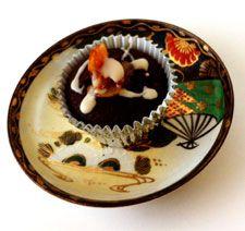 The Ninja Baker's Champagne Glazed Gluten-Free Double Chocolate Cupcake