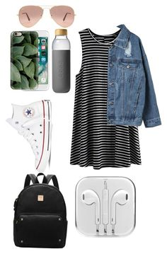 """""""Middle school first day?comment please"""" by celeste-05 on Polyvore featuring Soma, Converse, WithChic, Casetify and Ray-Ban"""