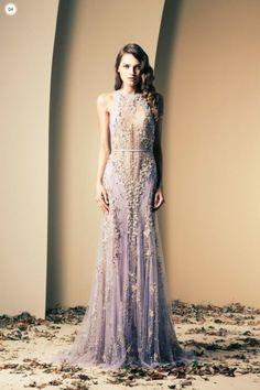 Utterly Beautiful Gown by Lebanese Fashion Designer Ziad Nakad in Lilac.