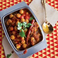 Chana Masala is a simple chickpea stew with many variations, eaten by a multitude of people across India. This recipe comes from author Suketu Mehta, who wrote about the dish for our 150th issue.