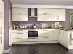 Orlando - Cream Hi Gloss kitchen | Wickes.co.uk