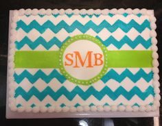 Monograms And Polka Dots Domesticated Pinterest Monogram - Monogram birthday cakes