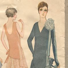 1920s dress pattern  McCall 5026 by PatternVault on Etsy, $45.00
