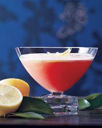 Mediterranean Pink Lady - Gin, Cointreau, Limoncello, Campari, lemon