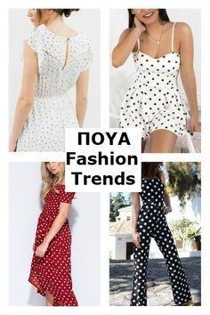 Το πουά βρίσκετε στο προσκήνιο για τη σεζόν άνοιξη/καλοκαίρι 2018. Θα το δούμε στην κλασσική του μορφή αλλά και σε νέα σχέδια. Μικρές βούλες, μεγάλες ή ανάμεικτες, από το καθιερωμένο ασπρόμαυρο μέχρι πολύχρωμα και μικτά μοτίβα. Βρήκα τα καλύτερα για να διαλέξετε! Fashion Trends, Dresses, Vestidos, The Dress, Dress, Gowns, Clothes, Trendy Fashion, Dress Outfits
