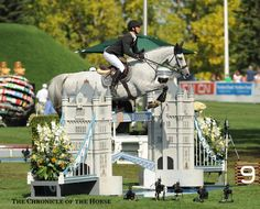 super cool castle jump at Spruce Meadows