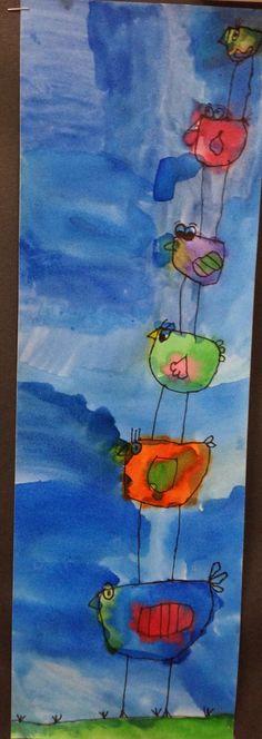 Art Room Blog: 1st Grade Stacking Birds...
