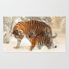 #Tiger_2015_0126 #Area_&_Throw Rug #JAMFoto #Society6.com