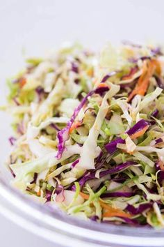 No Mayo Citrus Coleslaw. Quartered the recipe and made it tonight to go along with our chicken and black bean stuffed green peppers! Was very good and refreshing!