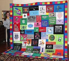 Image result for tshirt quilt girls
