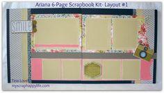 Scrapbooking Kits: Ariana 6-Page Kit