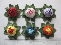 A personal favorite from my Etsy shop https://www.etsy.com/listing/233450979/mini-origami-lotus-flower-set-of-6