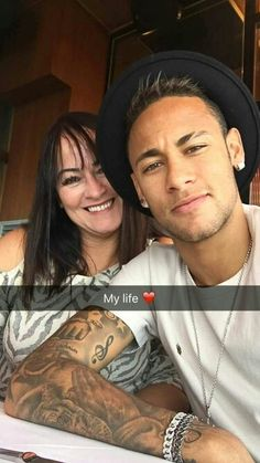 Neymar and his mom Nadine
