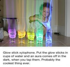 "glow stick xylophone - the original blog post states clearly that the ""aura"" is simply from the camera shooting in low light."