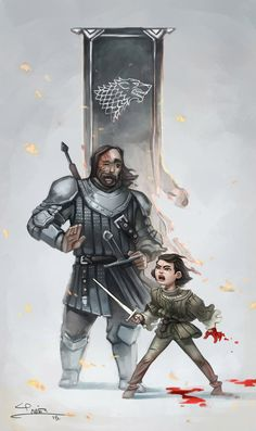 GOT Arya&The Hound by jpbravomalo.deviantart.com on @DeviantArt