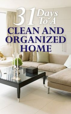 31 Days To A Clean And Organized Home: How To Organize, Clean, And Keep Your Home Spotless [Kindle Edition] BJ Knights (Author) Organize Your Life, Organizing Your Home, Organising, How To Organize, Organize Fridge, Organizing Tips, House Cleaning Tips, Deep Cleaning, Weekly Cleaning