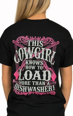 Girlie Girl Originals Women's Black More Than A Dishwasher Short Sleeve Tee | Cavender's