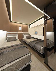 Azimut superyacht - Guest Cabin — Yacht Charter & Superyacht News Sailboat Decor, Sailboat Interior, Luxury Yacht Interior, Luxury Yachts, Luxury Suv, Yacht Design, Boat Design, Interior Room, Yatch Boat
