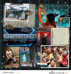 Disney Star Wars May the Force Be With You digital scrapbook layout using Project Mouse (Galaxy) by Brittish Designs and Sahlin Studio